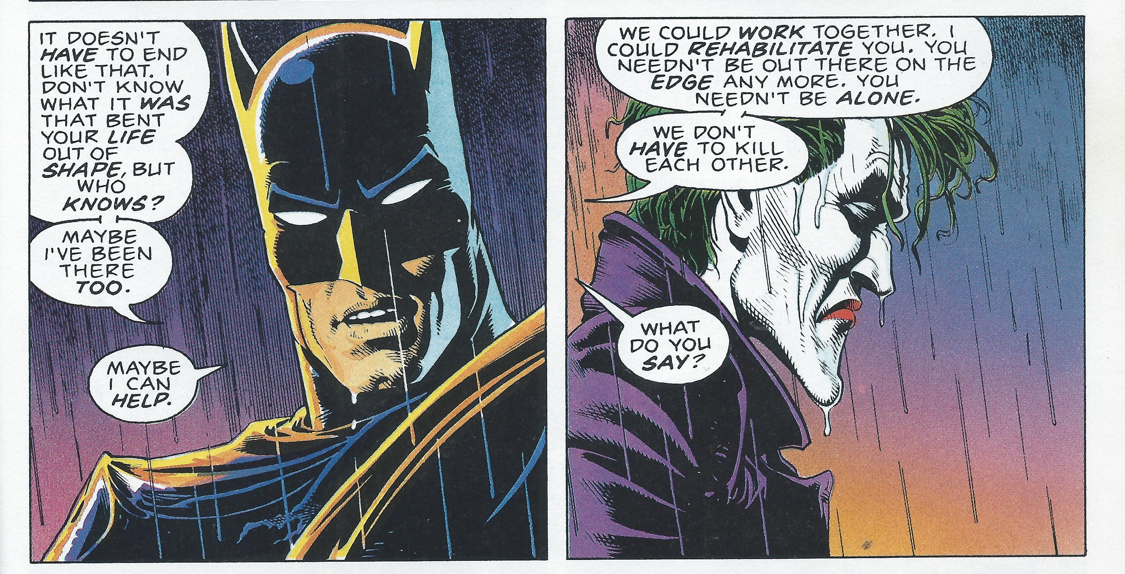 Batman and The Joker in The Killing Joke