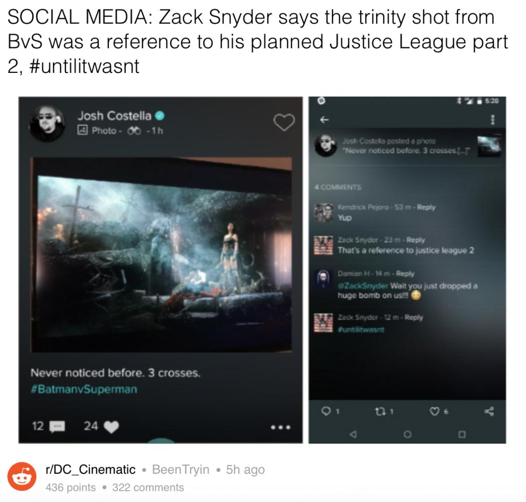 Zack Snyder JL 2 dark knight news