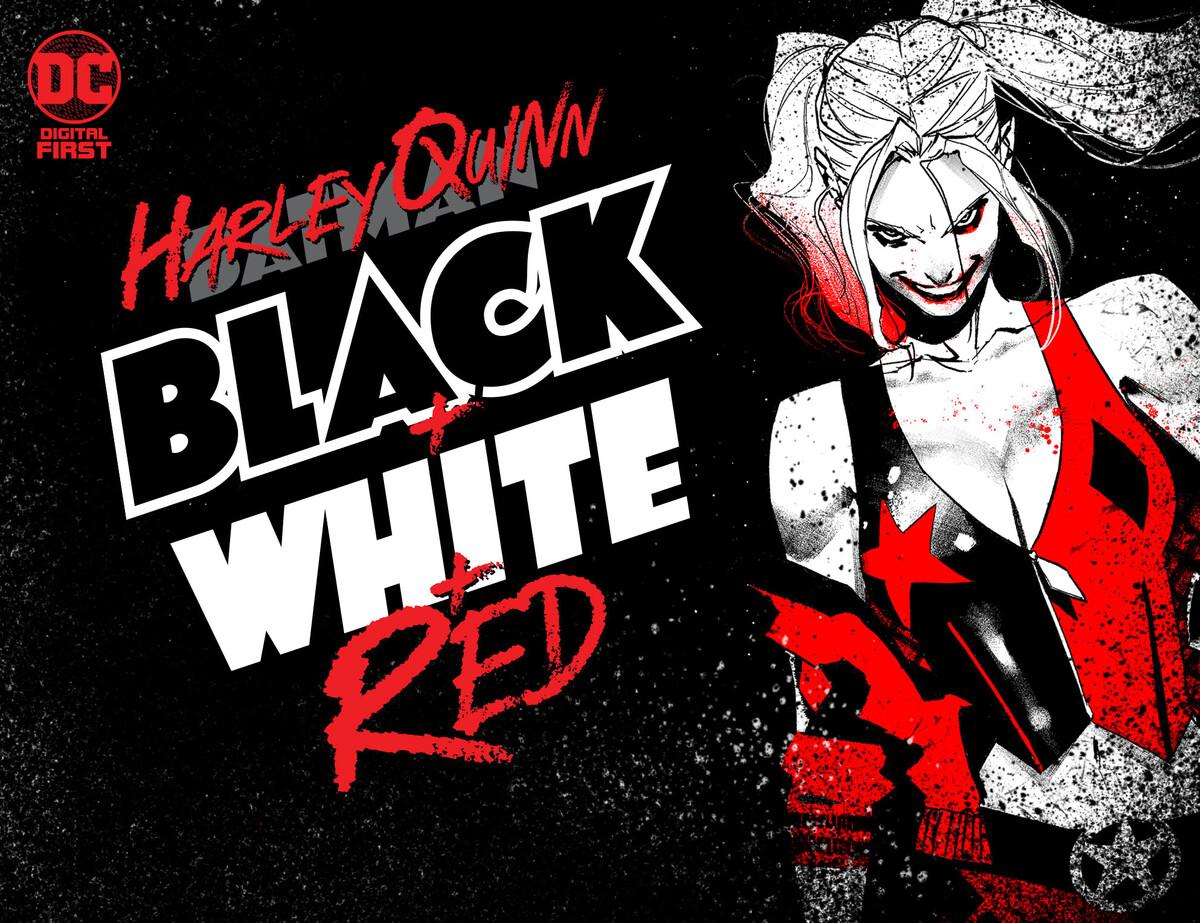 Harley Quinn: Black + White +Red Banner