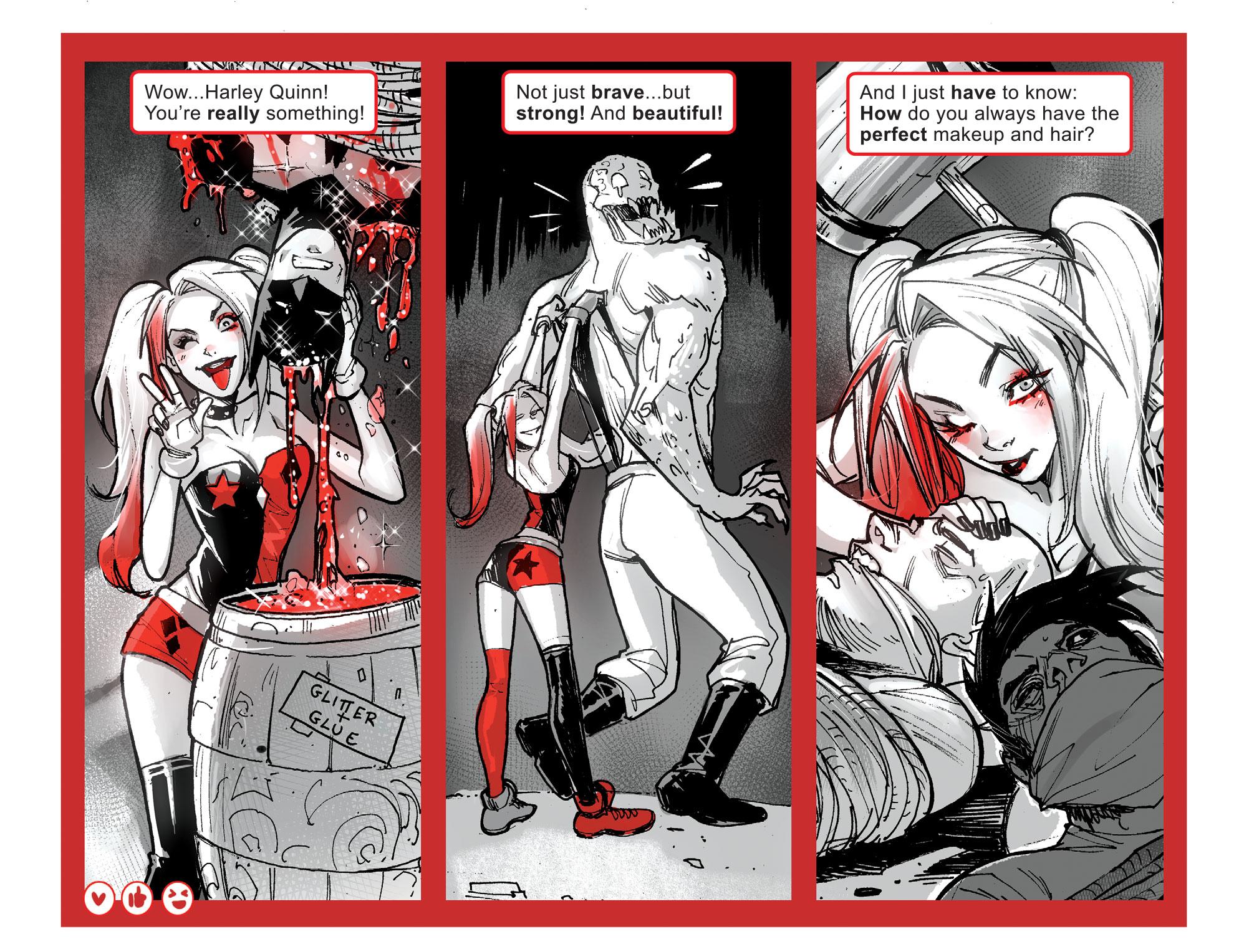 Review Harley Quinn Black White Red 1 2 Dark Knight News