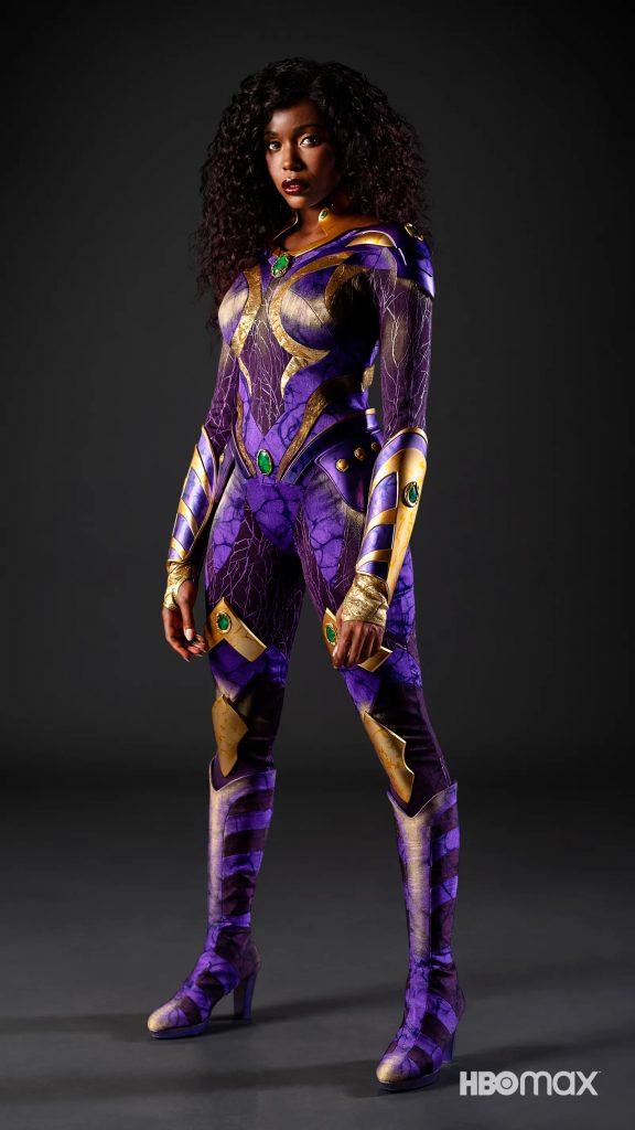 Anna Diop in her Titans Season 3 Starfire costume