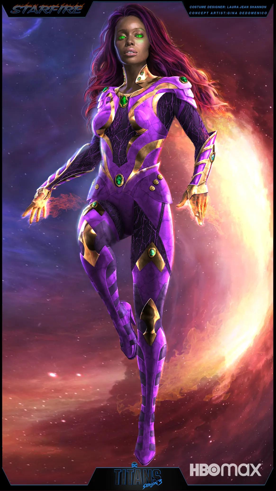 Starfire Titans Season 3 Concept Art by Gina DeDomenico
