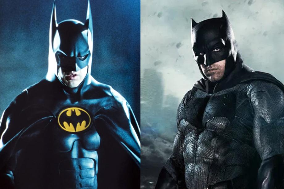 Michael Keaton and Ben Affleck both as Batman
