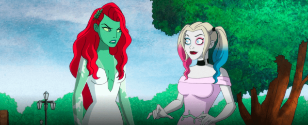 Poison Ivy and Harley Quinn in the 'Harley Quinn' animated series