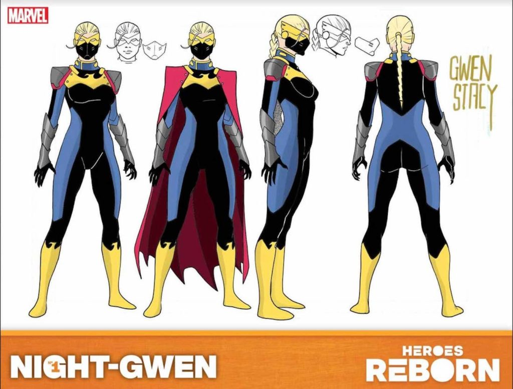 Night-Gwen's Costume Design in Marvel's Heroes Reborn 2021