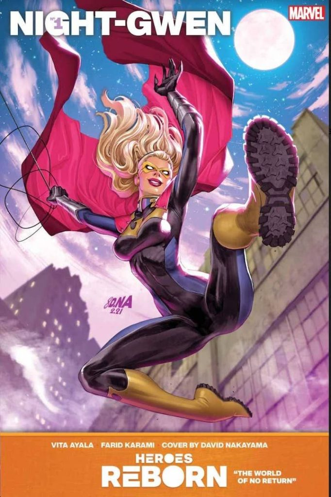 Night-Gwen #1 Cover, Part of Marvel's Heroes Reborn 2021 Event