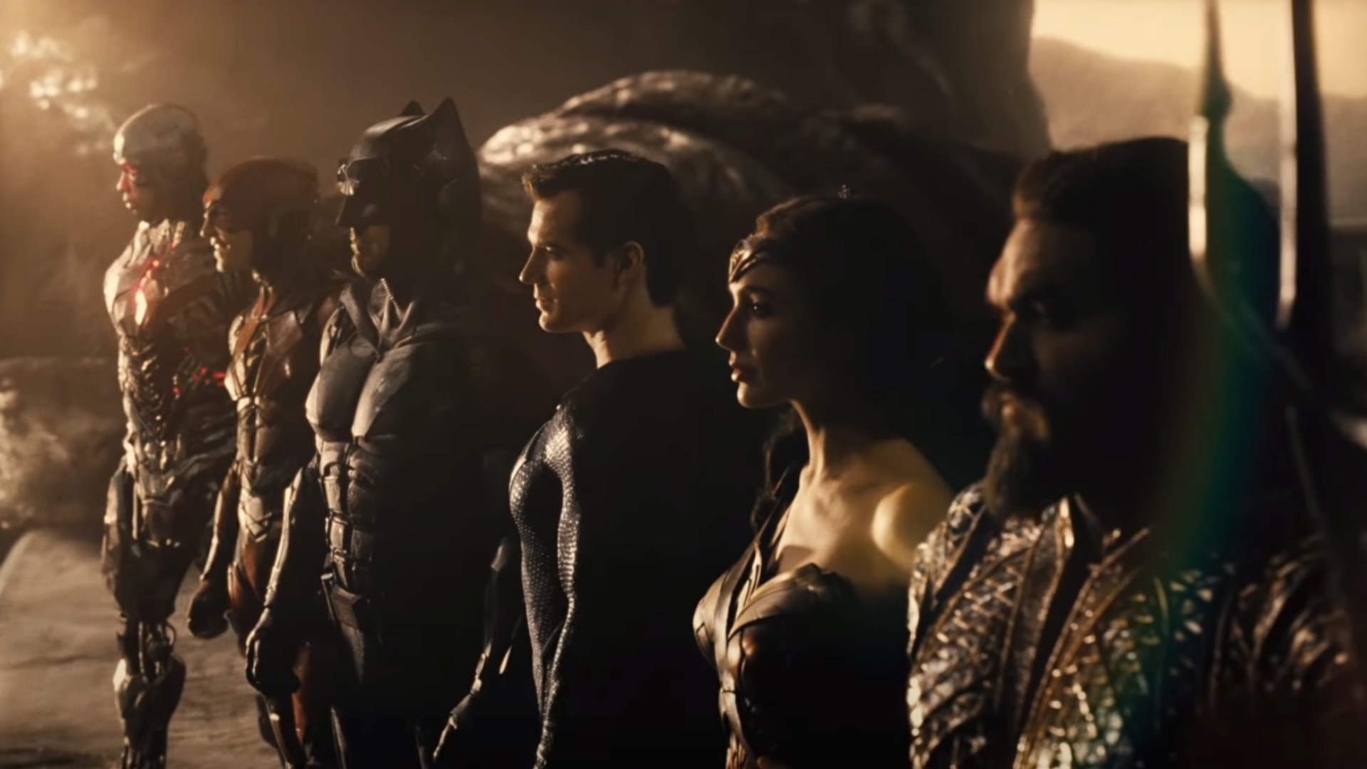 Cyborg, Flash, Batman, Superman, Wonder Woman, Aquatman - The Justice League