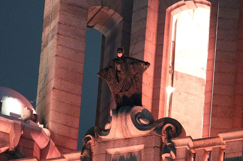 Robert Pattinson's Batman in Liverpool
