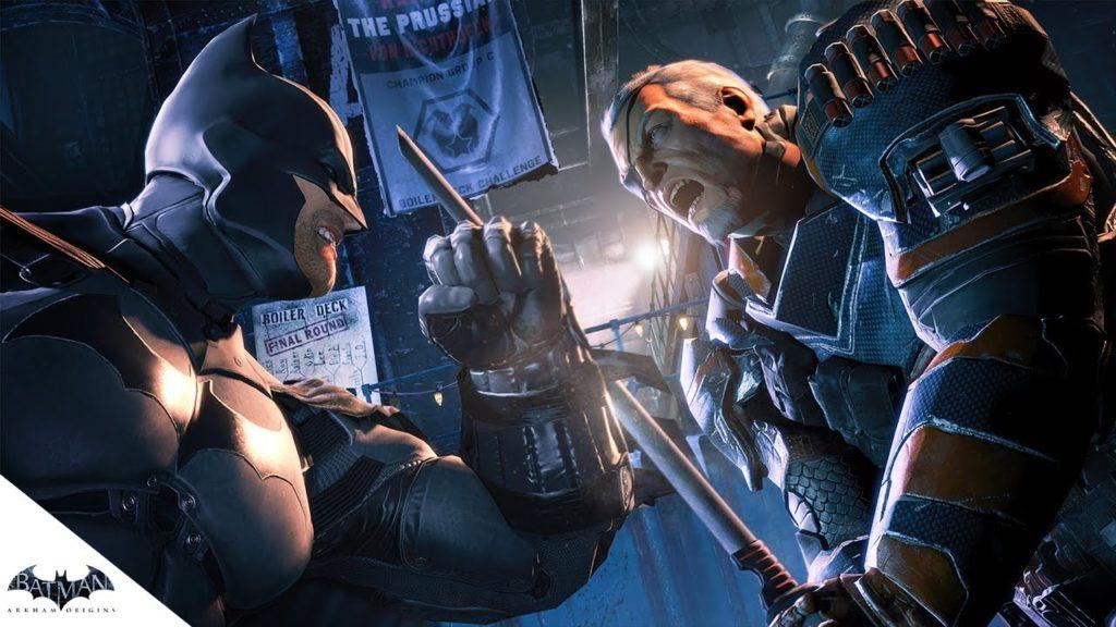 Batman vs Deathstroke in 'Arkham Origins'