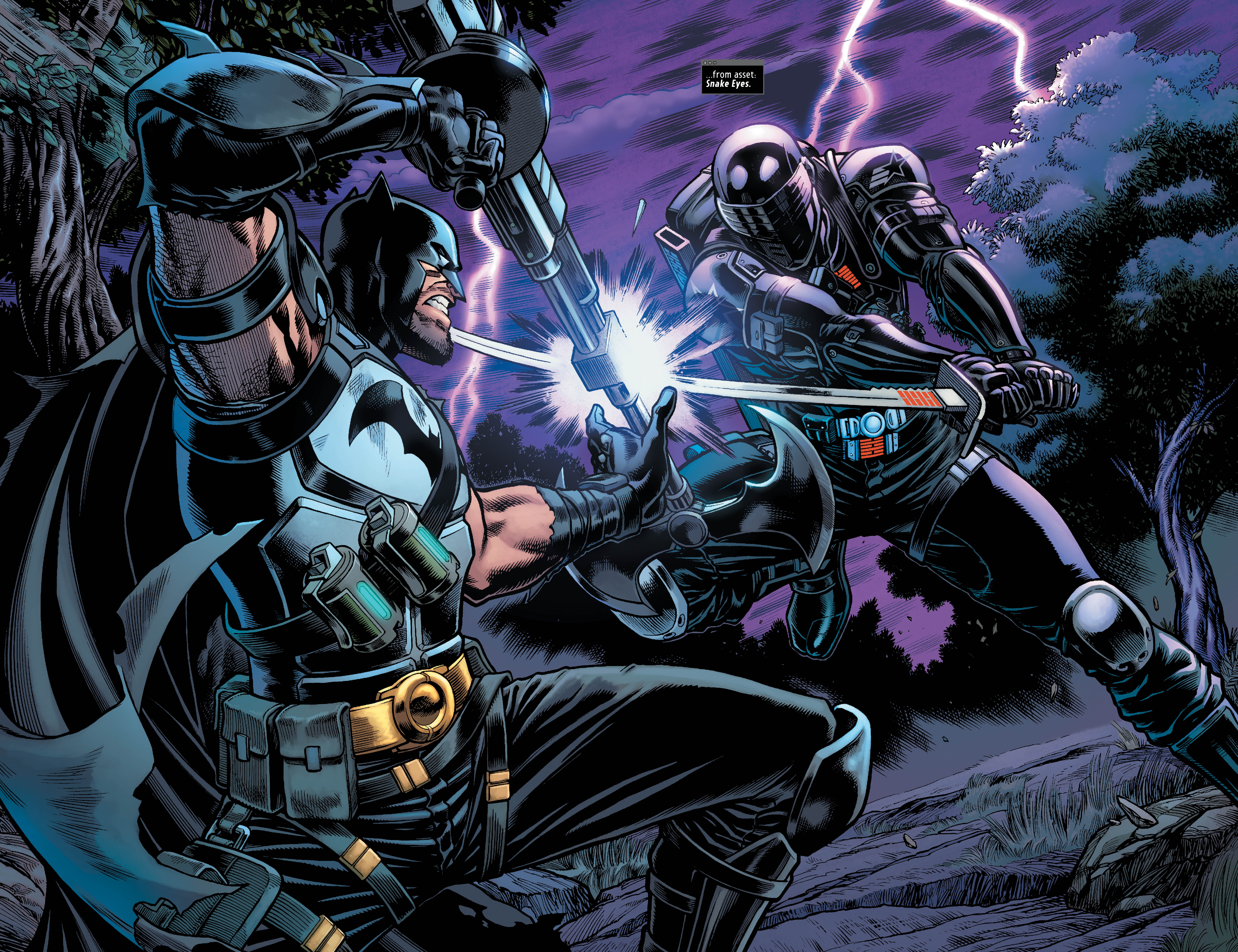 Batman/Fortnite sees the long anticipated meeting between Batman and Snake Eyes