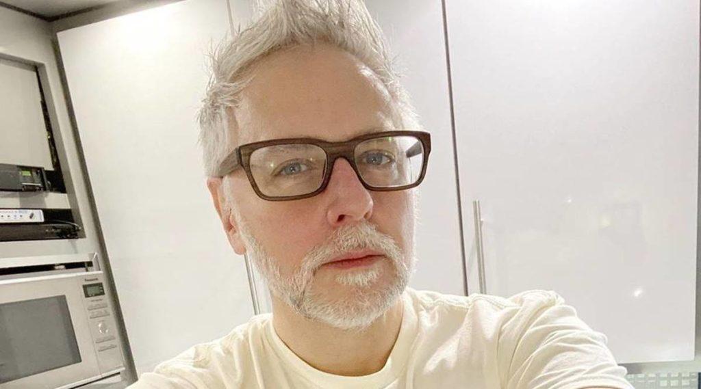 James Gunn in all his grey hair glory
