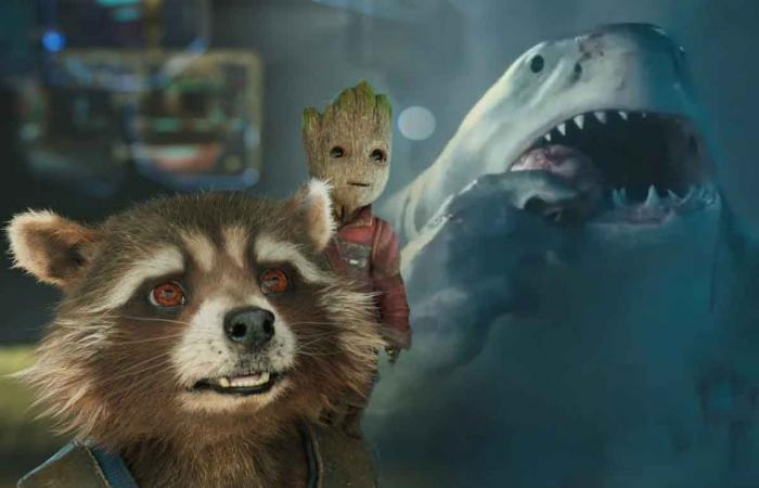 Rocket Raccoon, Groot, and King Shark are part of James Gunn dream crossover