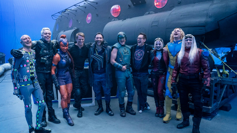 the suicide squad cast and james gunn