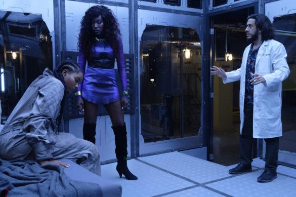 Anna Diop as Koriand'r/Starfire and Damaris Lewis as Blackfire in Titans Season 3 Episode 4 Blackfire