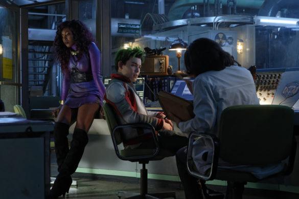 Anna Diop as Koriand'r/Starfire and Ryan Potter as Gar Logan/Beast Boy in Titans Season 3 Episode 4 Blackfire