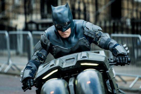 Ben Affleck's Stunt Double on Batcycle