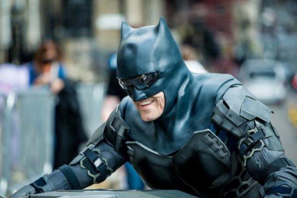 Ben Affleck's Stunt Double Smiling as Batman