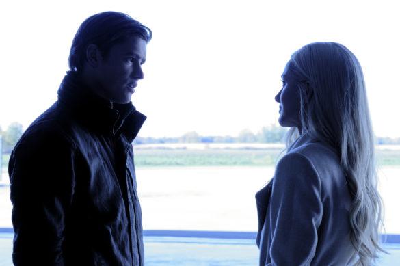 Brenton Thwaites as Dick Grayson/Nightwing and Minka Kelly as Dawn Granger/Dove in Titans Season 3 Episode 4 Blackfire