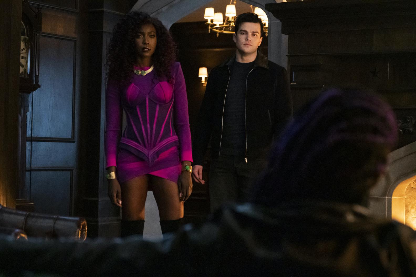 Anna Diop and Joshua Dorpin in Titans Season 3 Episode 6 Lady Vic